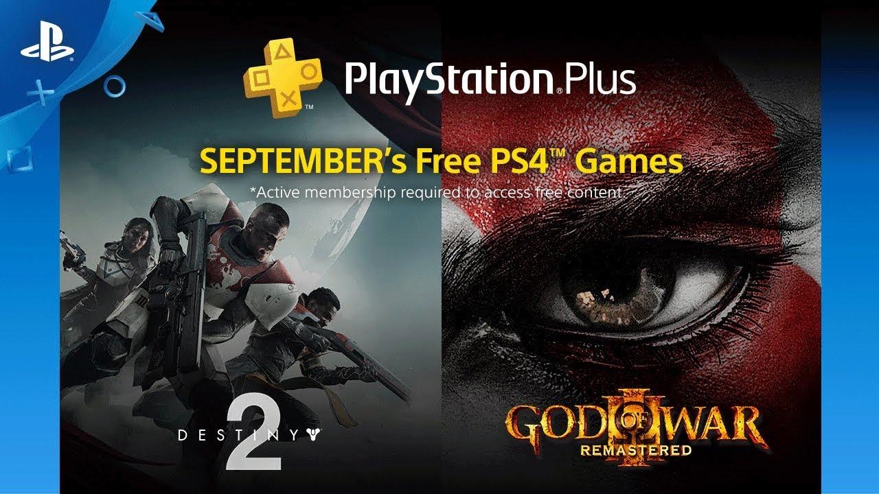 Playstation Plus   Destiny 2 e God of War III estão entre as ofertas gratuitas de setembro