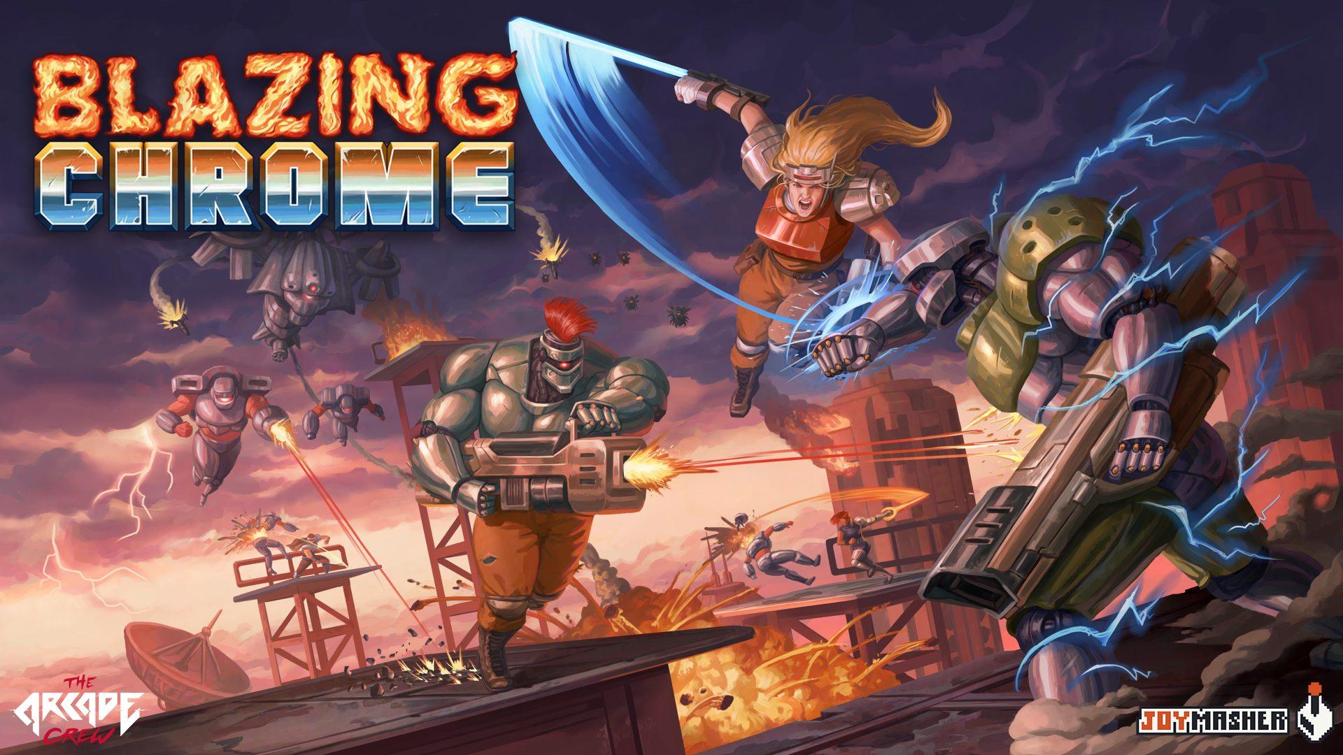Blazing Chrome | Novo trailer revela data de lançamento do game brasileiro