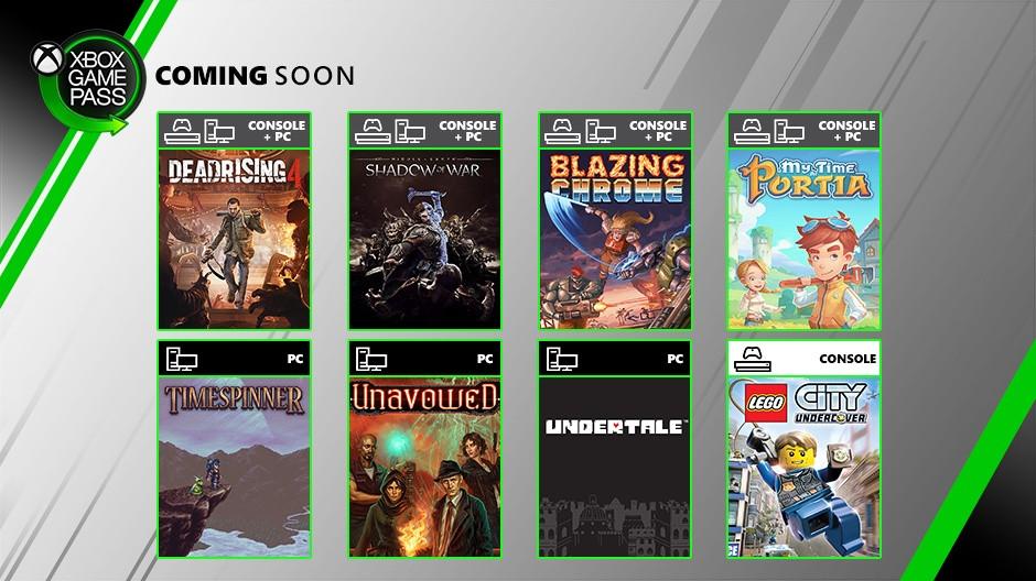 Xbox Game Pass   Sombras da Guerra e Dead Rising 4 chegam ao Game Pass em julho