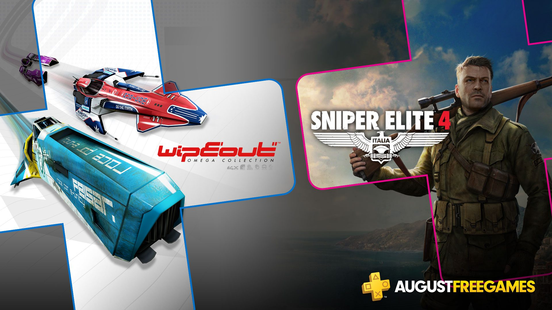 Playstation Plus | WipEout Omega Collection e Sniper Elite 4 são os games da PS Plus de agosto